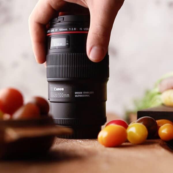 camera lenses food